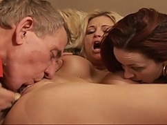 Lucky guy gets to fuck his wife, and their young nanny in the living room