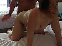 Hotwife fucks hard on the bull in front of cuckold