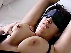 Wife blindfolded friend