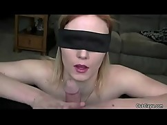 Beautiful woman with closed eyes, and to share your spouse(humiliation, old man, hard, moans)