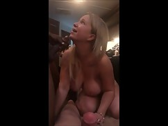 Bitch wife takes big black cock