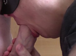 Cuckold mother in law blow job, funny-double bj and with the shot