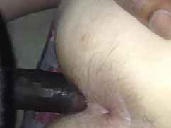 Uk wife fucks big black cock anal