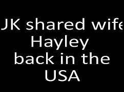 The uk shared wife hayley back in the united states