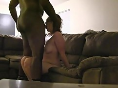 Cheating wife gets fucked deep balls big black cocks