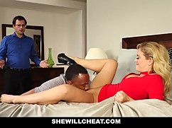 Shewillcheat in social media - bitch woman first big black cock