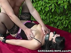 Degrading participates in групповухах with warm water and naughty mom and