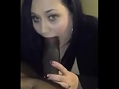 Real slut milf giving head big black cock