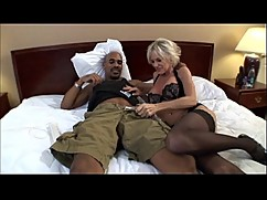 Mature milf with a big black cock in hot mom porn video