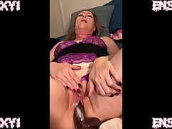 Ensexy1: wife cums on a big cock black dildo, while the cuckold film