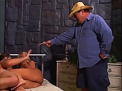Sheriff039_s big tits wife get caught as soon as the hard ass to mouth action