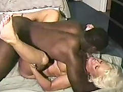 Young and beautiful big cock and black lady dominates blonde houewife