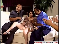 Mature wife gangbanged by big black cocks