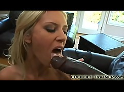 Watch this huge black cock knocking at my pussy