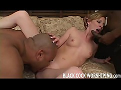 Watch me spit roasted on two big black cocks