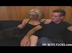 Watch blond wife get fucked by a new man every day
