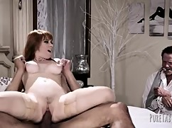 Axe-a woman takes a big black dick