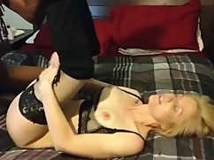 Nurse blonde wife enjoying a big black cock