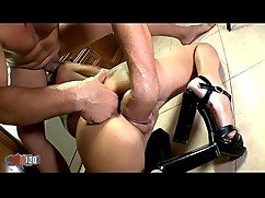 Hot french milf lyna cypher gets her ass fisted and fucked hard