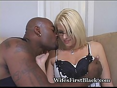 Cute blonde takes wife black lover