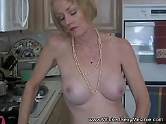 Amateur mom teasing to get attention