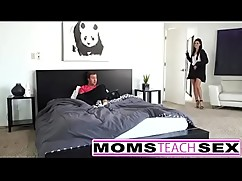 Step mom and son teen squirt hot threesome hd