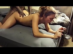 Sweet woman ecstasy with first big black cock