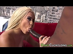 Blonde mother in law fucks a big black cock