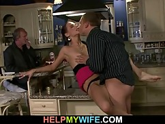 Amazing young blonde cuckold wife