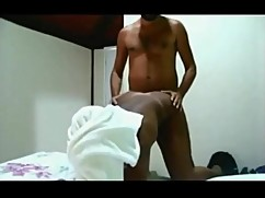 Ebony wife caught hidden cam with white boy