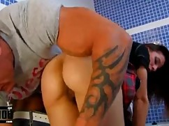 Horny housewife fucked in the ass hot muscular plumber