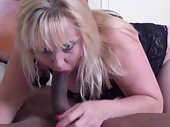 Mature shaved and pale blue housewife first black cock experience