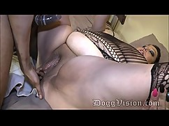 Beautiful female swingers face black boy