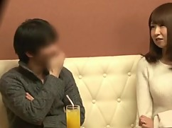 Japanese wife fucks with another man in front of her husband