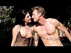 Peeping stranger to get the fuck wife while husband watches then cums in his mouth on the massage table(cuckold scene with india summer)