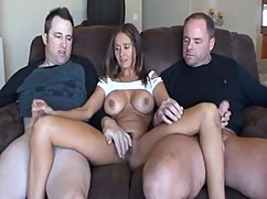 We mature babe with two cocks!