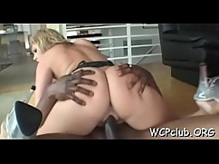 White chick sucks chocolate ding-dong-takes place in a wet wet crack
