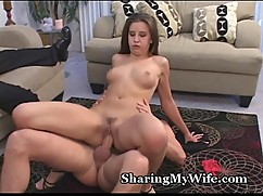 Beautiful wifey craves stranger039_s cock