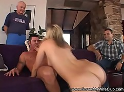 Natural blonde milf swingers 3some