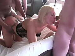 My wife, friends, while sucking dick