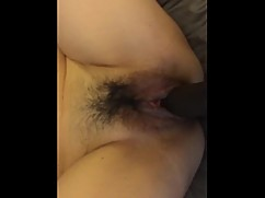 My asian wife getting fucked by a big black cock