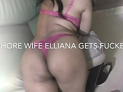 Whorewife elliana driving a new dick while her husband films