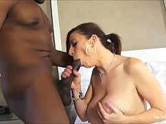 Mega horny cheating wife sara jay fucks with cum huge black cock!