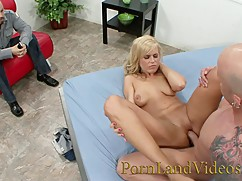 Hot blonde wife darci taylor fucking with strangers in front of husband