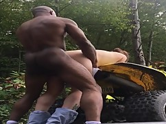 Slut wife used bull in the woods