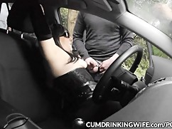 Parking gangbangs with slutwife marion
