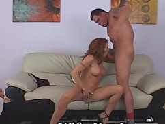 While his wife is glad to see big masturbation
