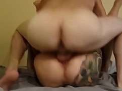 Tattooed wife sucks friend, pt.5