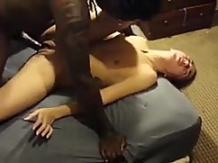 His big black cock deep into his wife's hot pussy, deeply in love