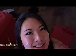 Pov epic cap. gen! ev asian girl sucking your cock dry
